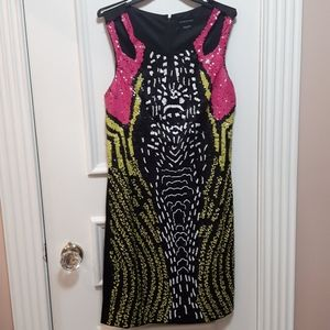 Marciano sequin patterned dress